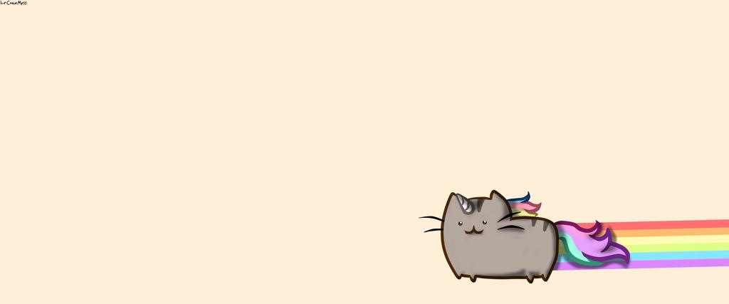 Pusheen Cat Wallpaper. By LeChicoMess ...