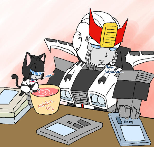 Prowl's coffee time by umitaro