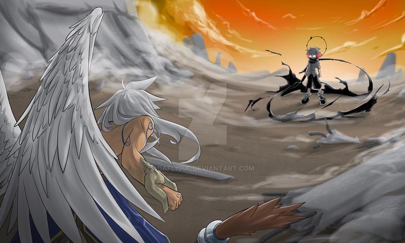 By~ne VS Chrono battle scene 01 by daFlique