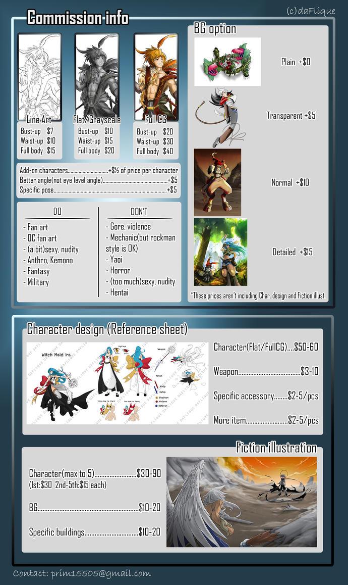 Commission Info - Illustration by daFlique