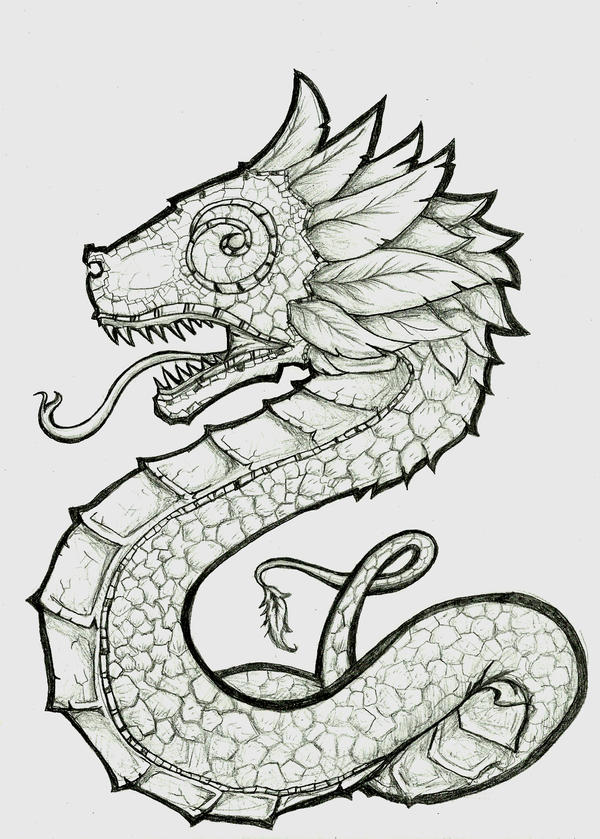 quetzalcoatl aztec drawing - photo #2