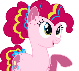 Pinkie Redesign in MLP Style by MagicUniClaws