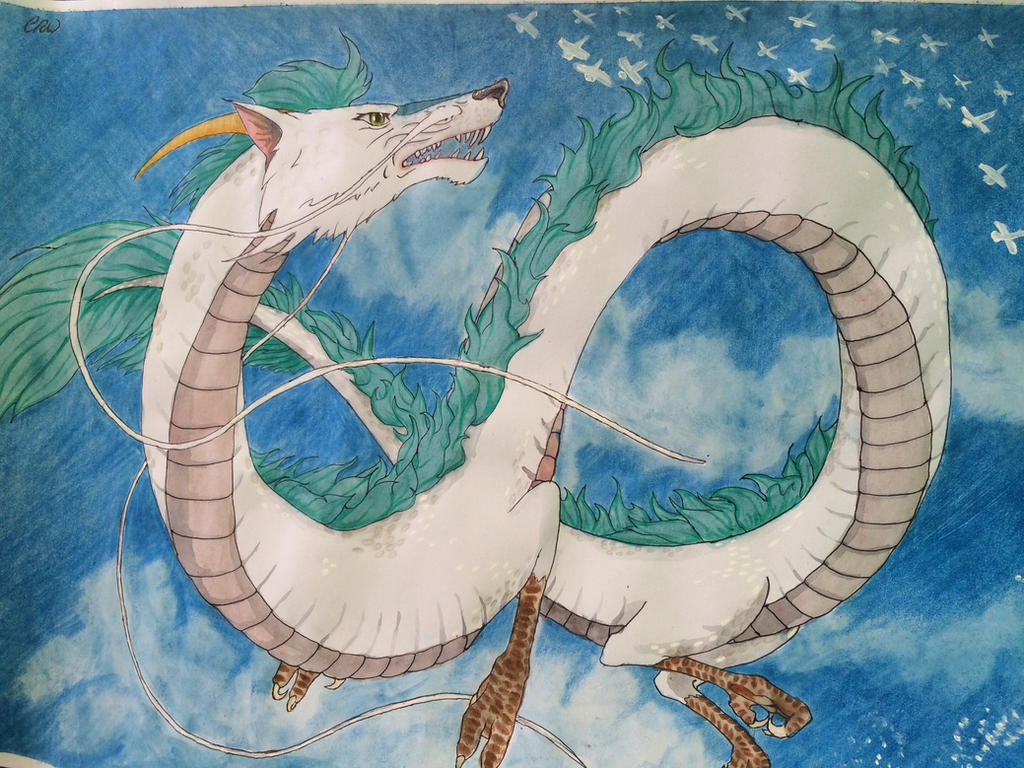 Haku In Dragon Form From Spirited Away By Xeraphinity
