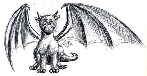 mini dragon sketch by nunt