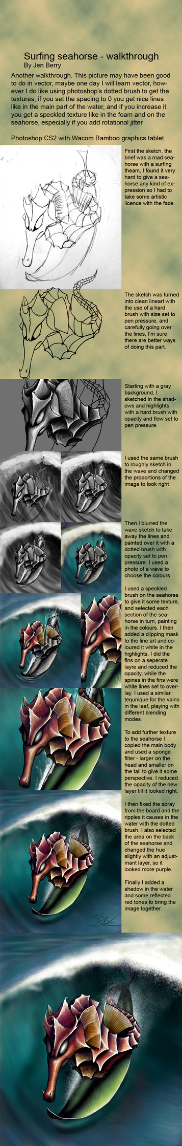 Surfing seahorse - walkthrough by nunt
