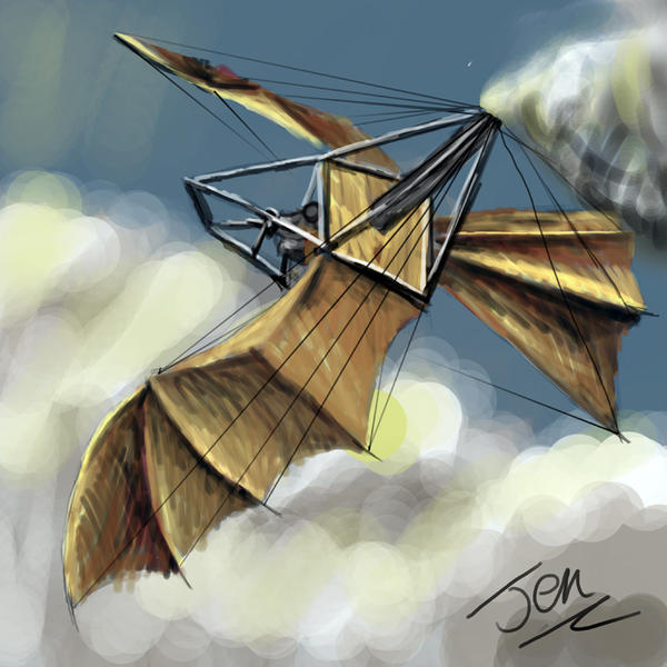 speedpaint: wings of steam by nunt