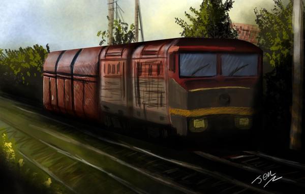 Train speedpaint by nunt