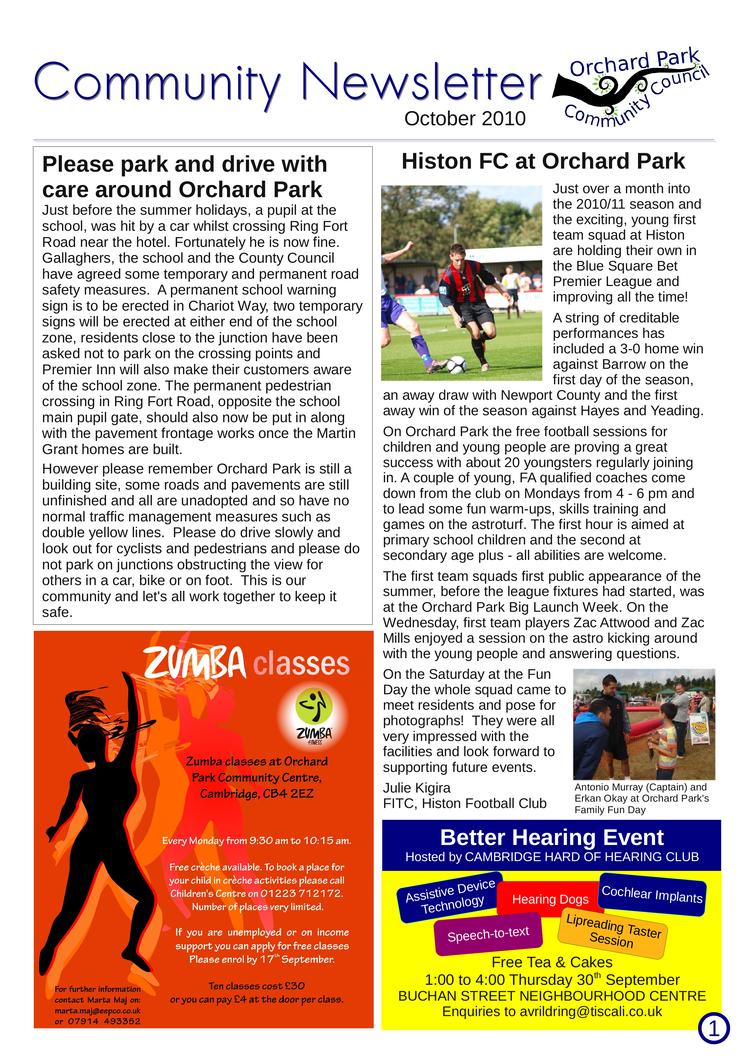 OrchardPark Newsletter Oct2010 by nunt