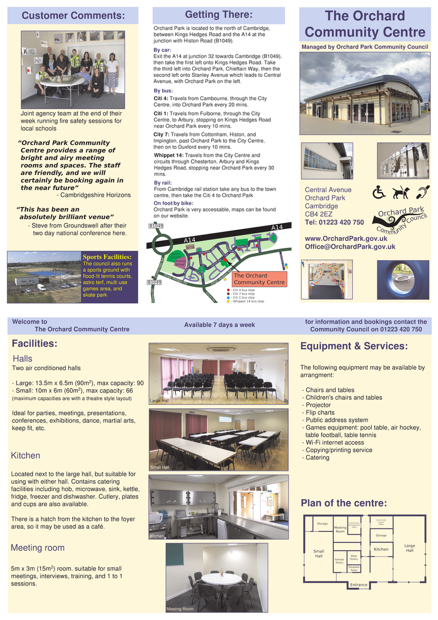 Community Centre leaflet by nunt