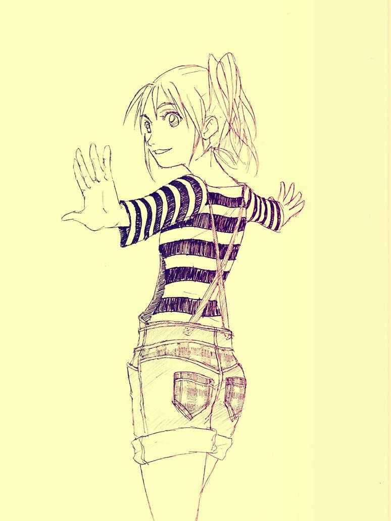 Striped girl by RockokuShioya