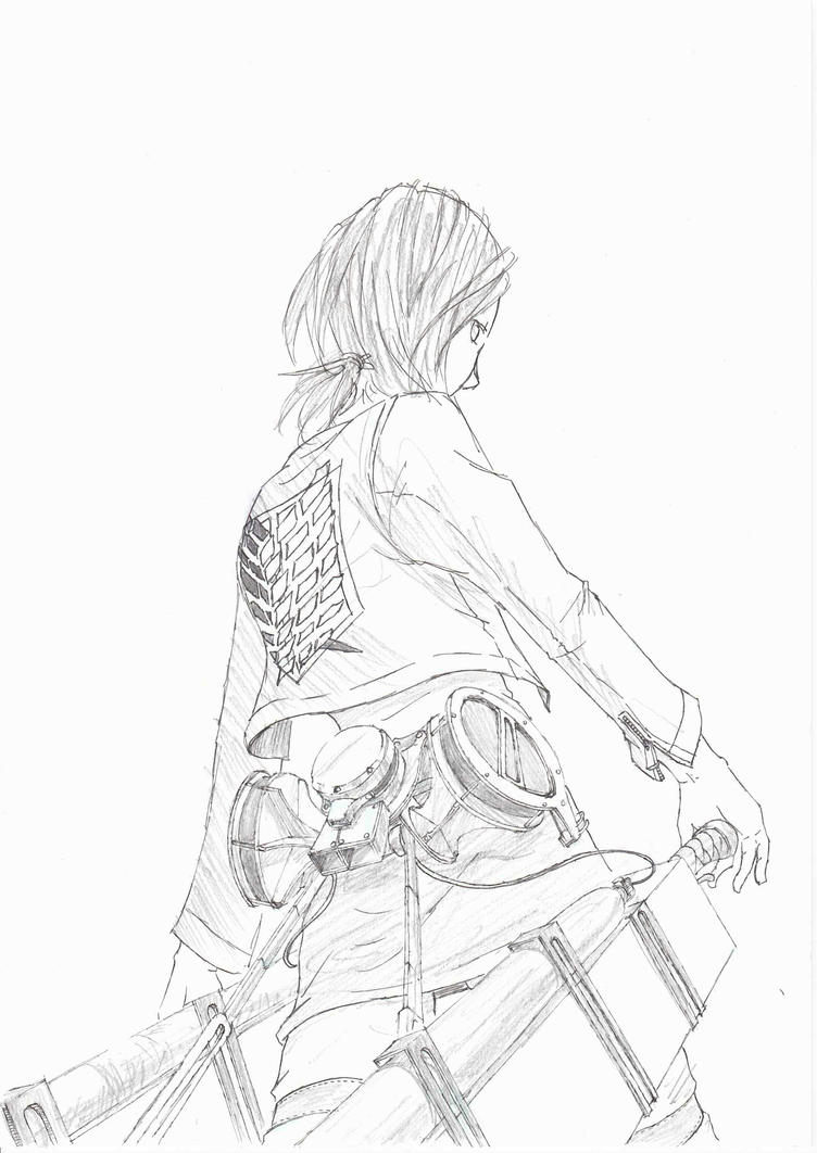 The Survey Corps -black and white- by RockokuShioya