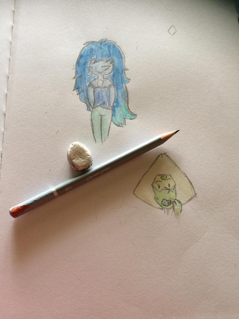 Bluetint Pearl And Peridot by 123-diamond-blue