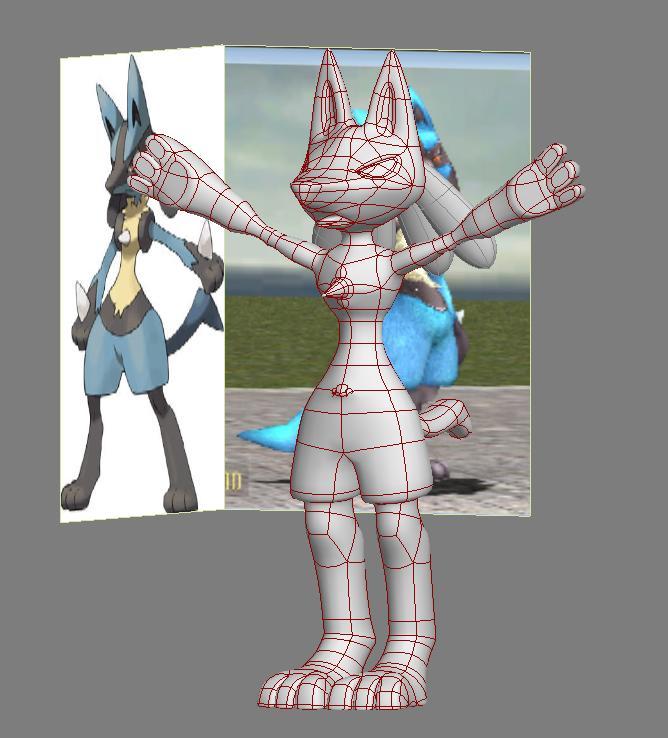 lucario pokemon speed model by Thordwolf