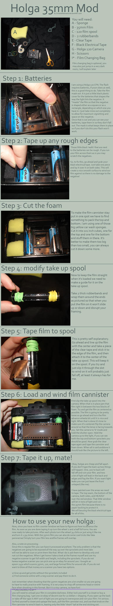 35mm Holga Mod Tutorial by OmahaNebraska