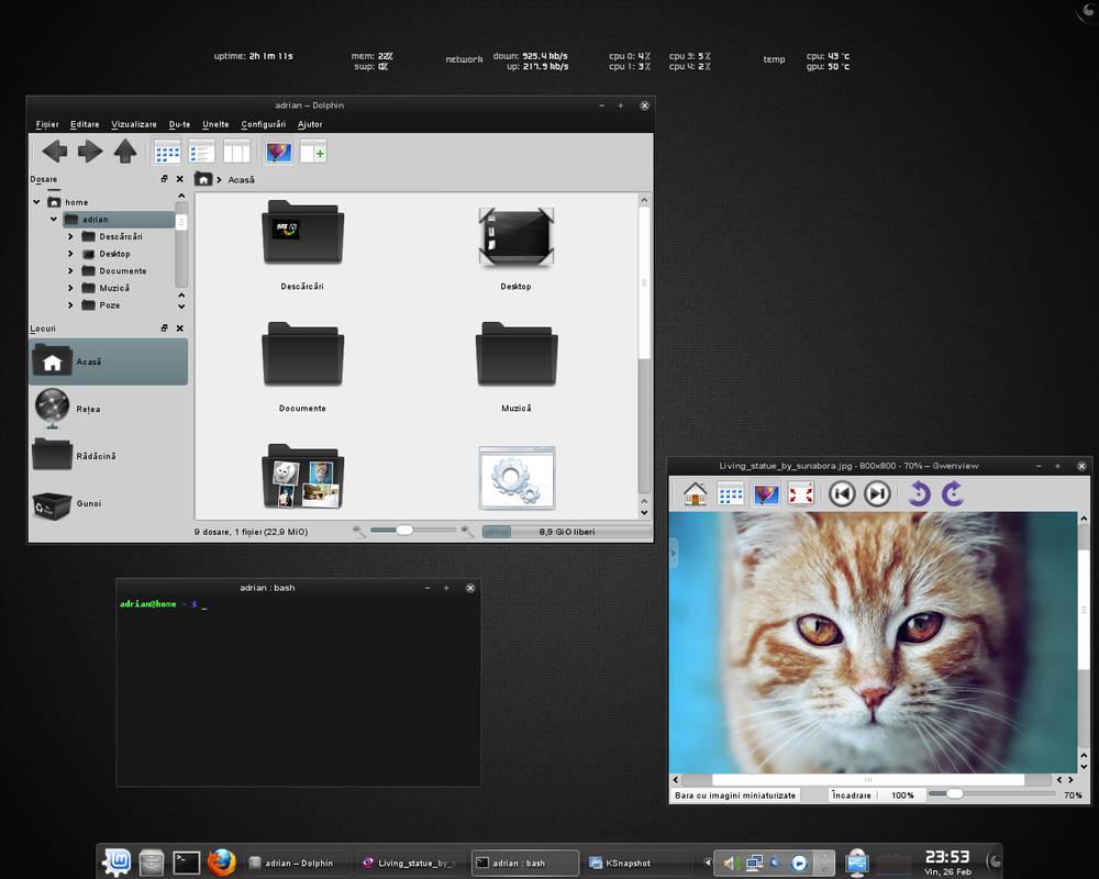 KDE dark desktop