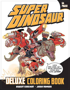 Super Dinosaur Coloring Book Cover