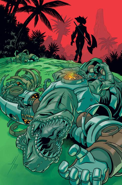 Super Dinosaur 10 Cover by JasonHoward