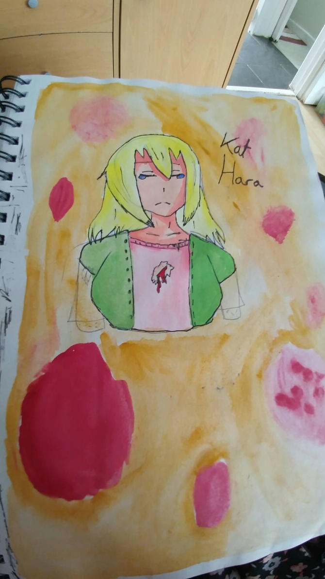 Kat Hara water colour by the-anime-snowflake