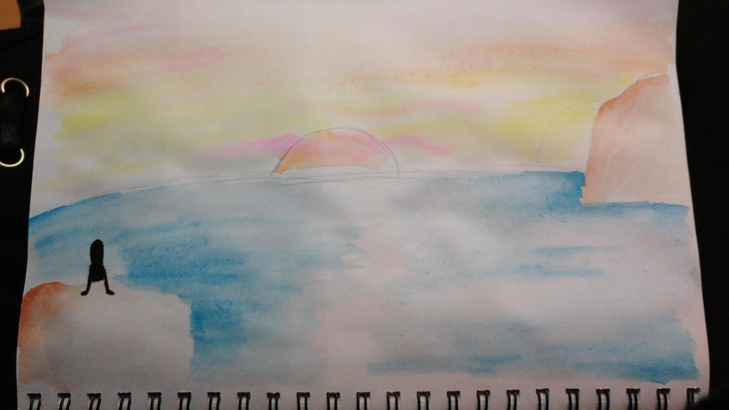 Watercolour landscape 1 by the-anime-snowflake