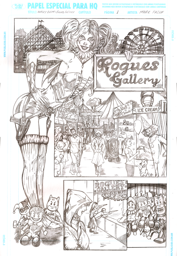 Harley Quinn RoguesGallery page1 by mpazin