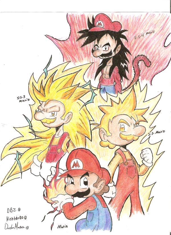 Super Saiyan Mario by ~MasterDM90 on deviantART