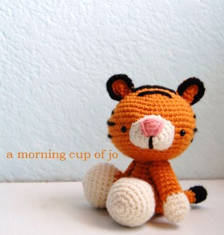 Thomas the Tiger Free Amigurumi Pattern | Jess Huff | 477x456