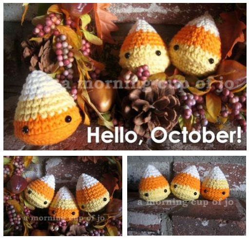 Candy Corn plushies by amorningcupofjo