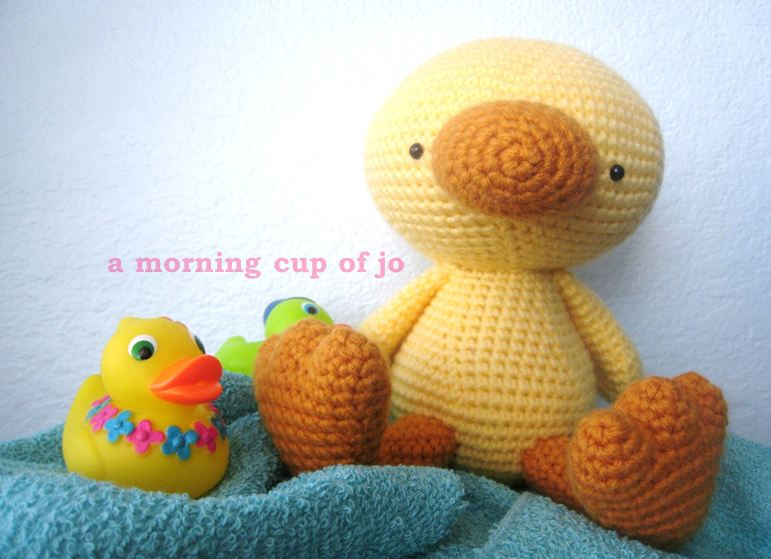 Amigurumi Duck Free Crochet Pattern : Amigurumi baby duck by amorningcupofjo on deviantart