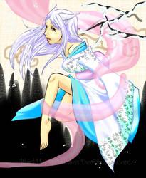 Kitsune Maiden by BlackHarpyGoddess