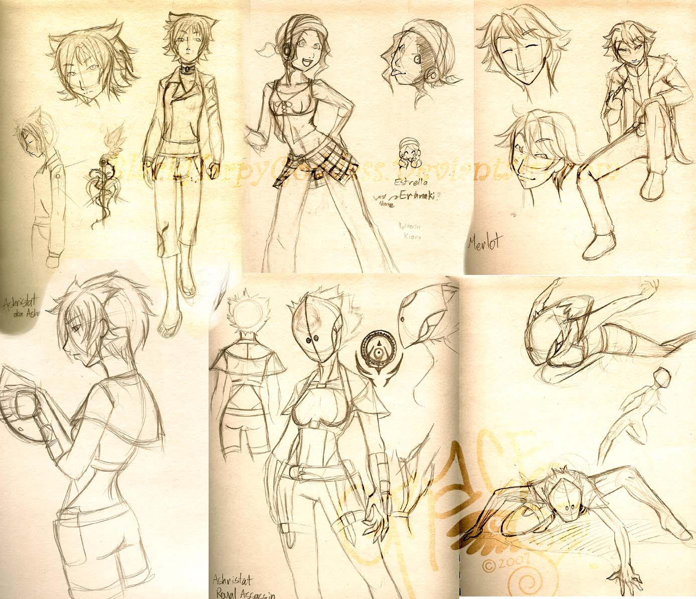 Character Design Layout : Character design layout by blackharpygoddess on deviantart