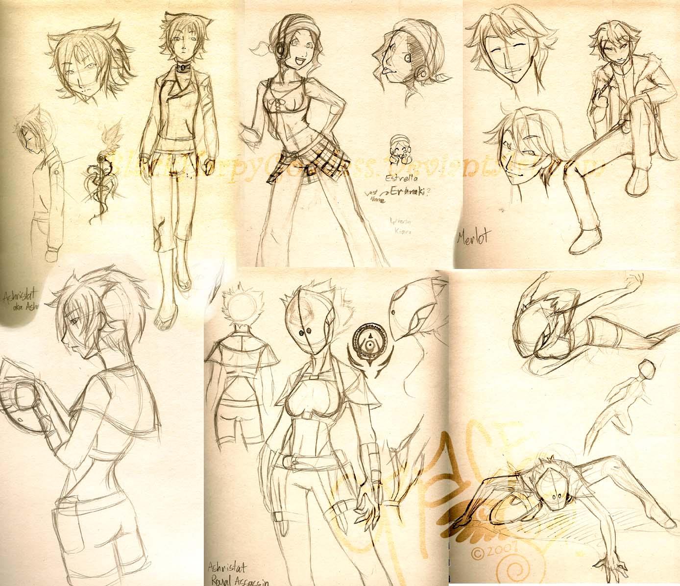 Character Design Layout : Character design layout by blackharpygoddess on deviantart