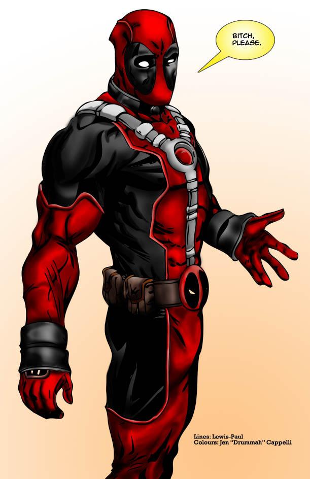 Deadpool Coloured by DrummahJen