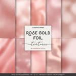 Rose gold foil digital paper by danieladenny