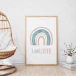 Boho rainbow wall art printable by danieladenny
