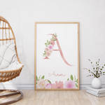 Initial print personalized wall art printable by danieladenny