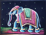 Hand Painting of Royal Indian Elephant by kcollectionsca