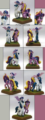 MLP:FIM The Royal Crystal family walking multi