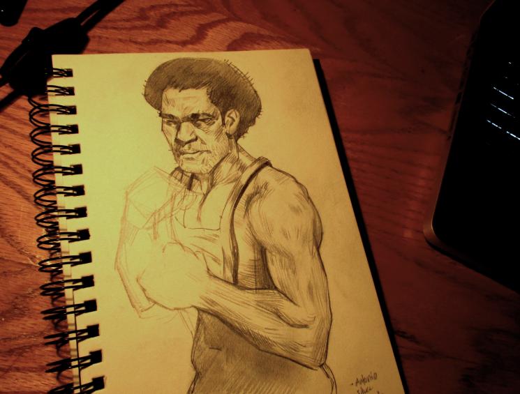Afro Sketch by Laharu