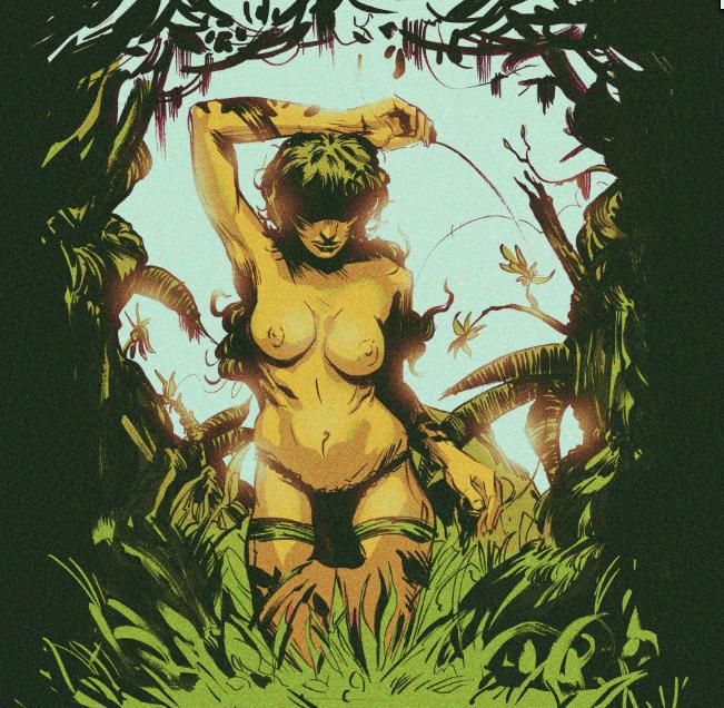 Jungle Lady Colored by Laharu