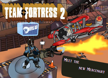 TF2 Comic: Meet the new Mercenary Cover (*Done*) by Pilotking