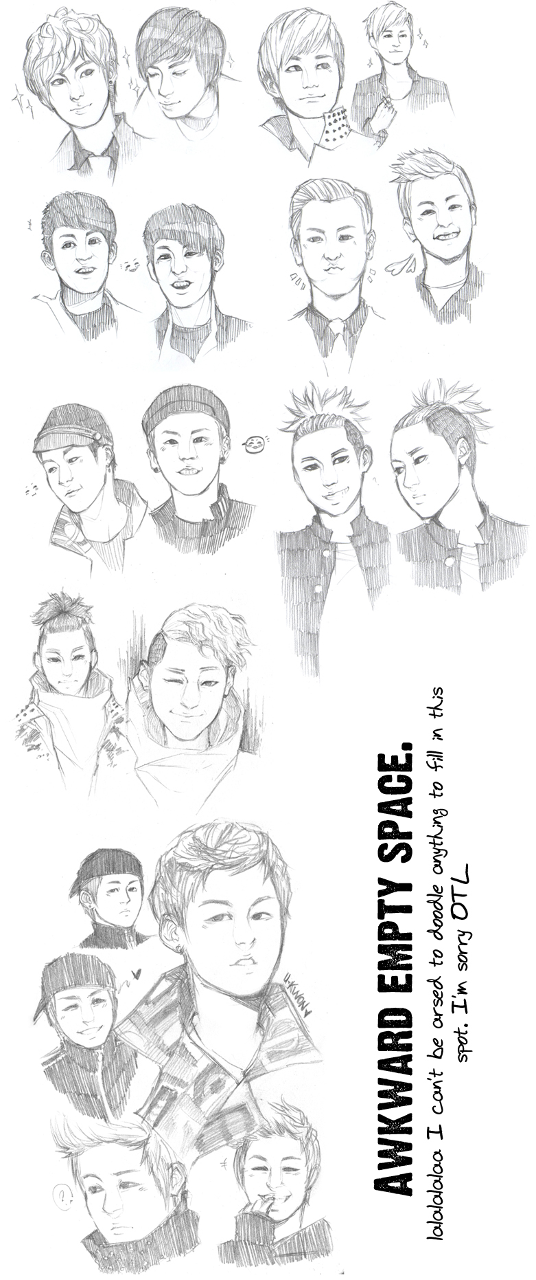 Block B Sketch Dump by BakaKira