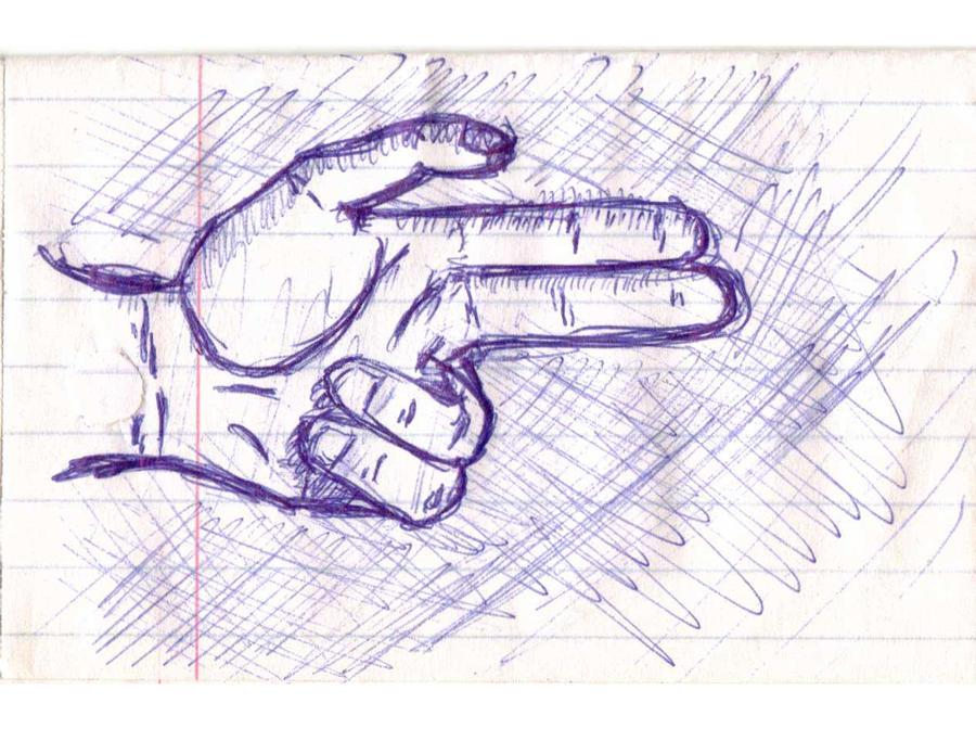 Finger Gun To Head Art