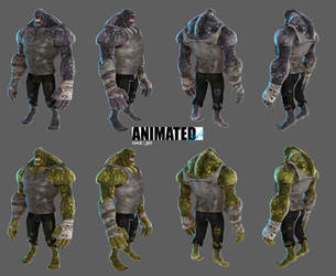 Animated Style Killer Croc by 6and6