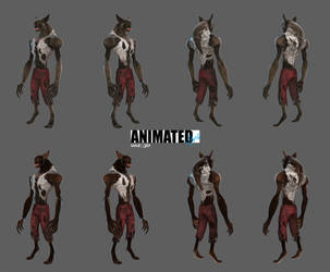 Animated Style Manbat by 6and6