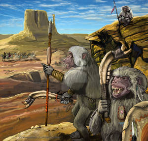 Glorantha : Baboon Hunting Party