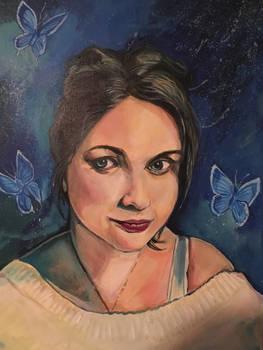 Becky with Butterflies