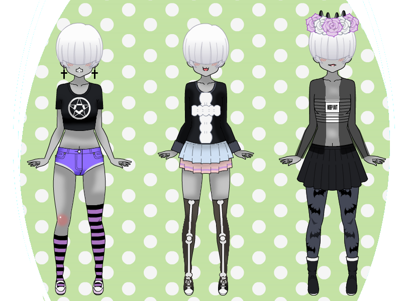 KISEKAE ~ Pastel Goth Outfits by SpicyM3m3x on DeviantArt