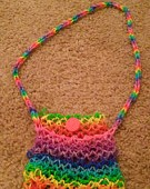 Phone Purse Made from Rubber Bands by diamondrosebrony
