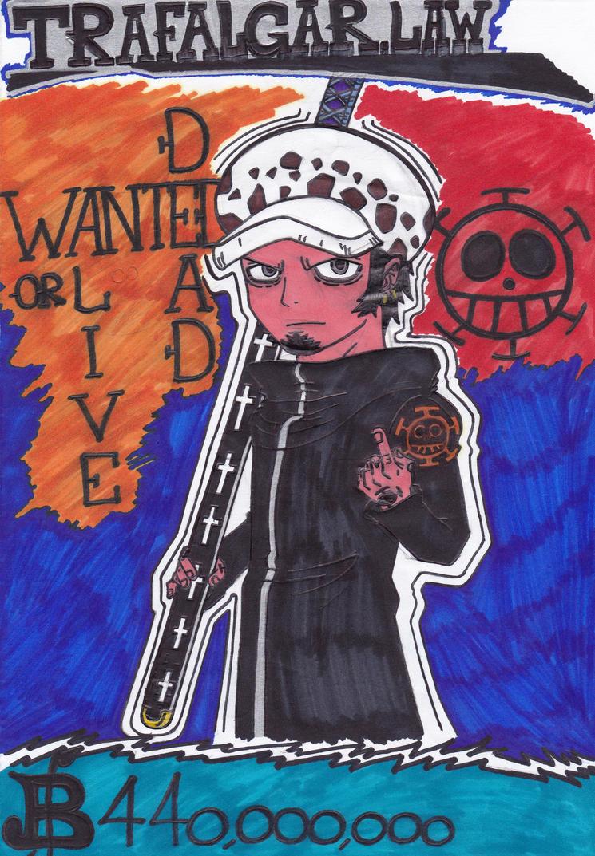 Wanted Dead or Alive - Trafalgar Law by Fox-On-Fire