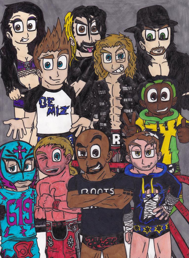 WWE Superstars by Fox-On-Fire